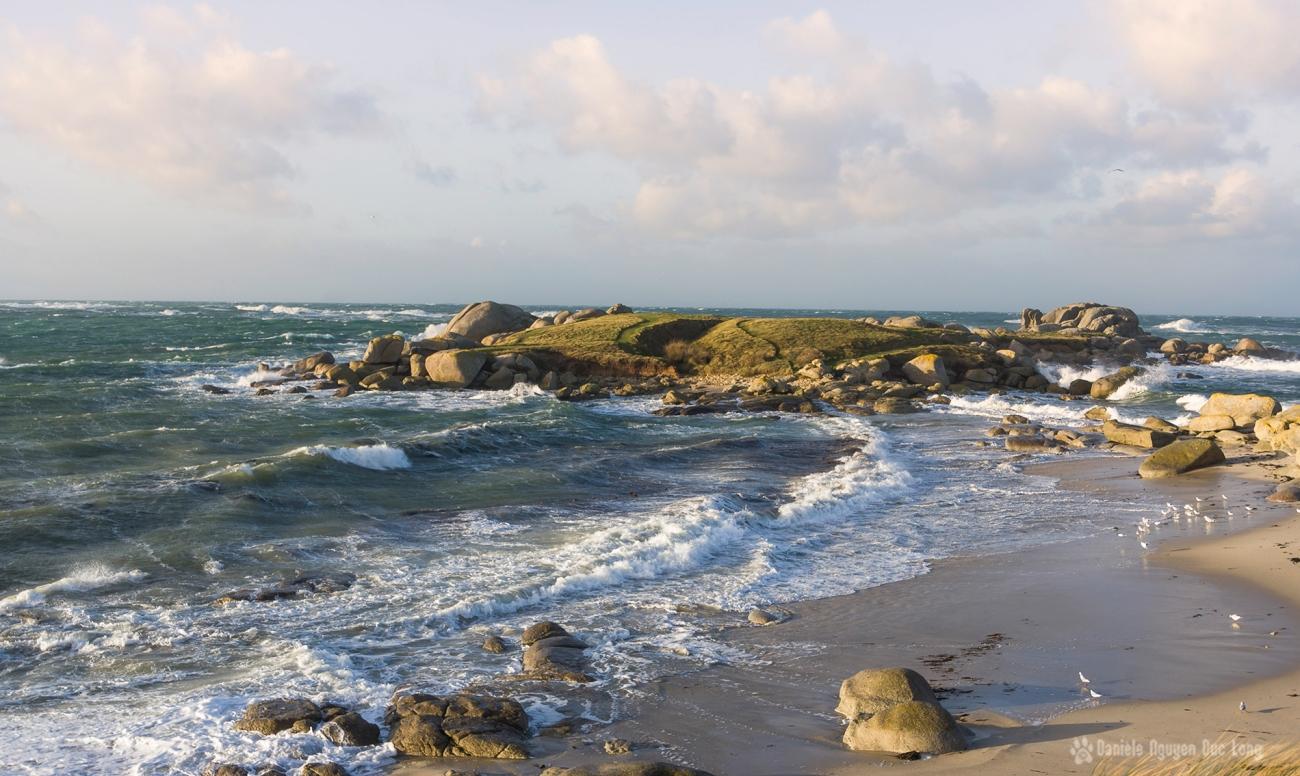 île aux vaches, tempête Carmen, Bretagne, Finistère
