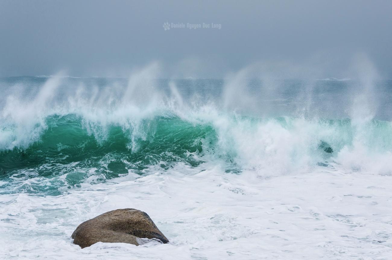 vagues, bretagne, finistère, écume,