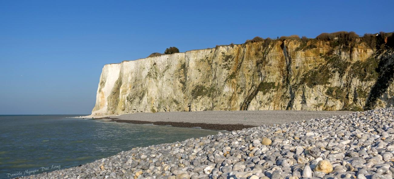 Mers-les-Bains, falaise, plage,Picardie, Hauts-de-France