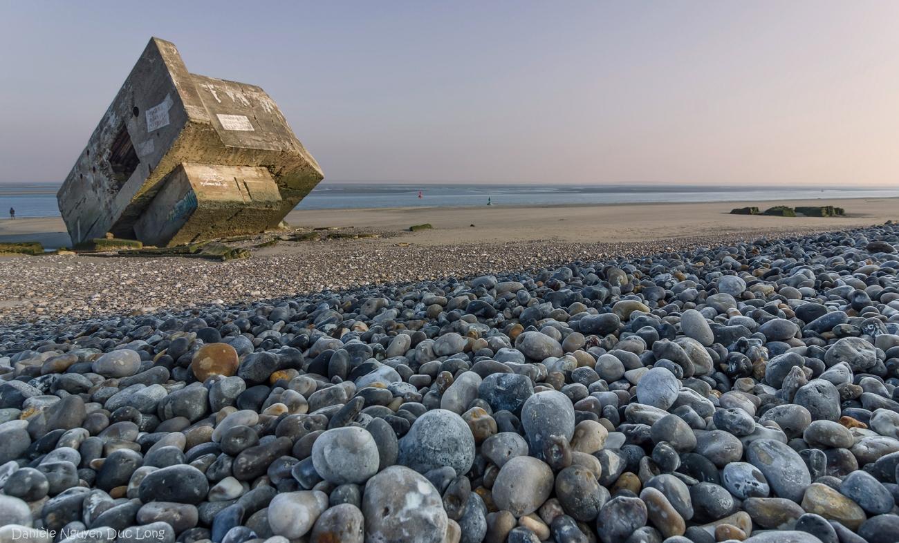 pointe du Hourdel, baie de Somme, Picardie, Hauts-de-France, blockhaus, blockhaus de Hourdel,