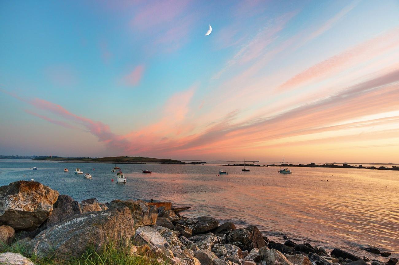 coucher de soleil sur Lilia-Plouguerneau