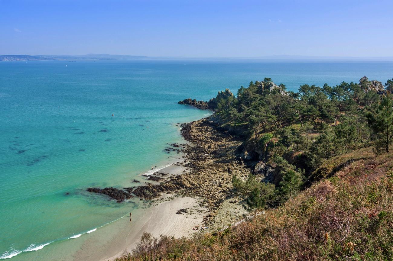 presqu'île de Crozon entre fort Kador et St-Hernot, Bretagne, Finistère