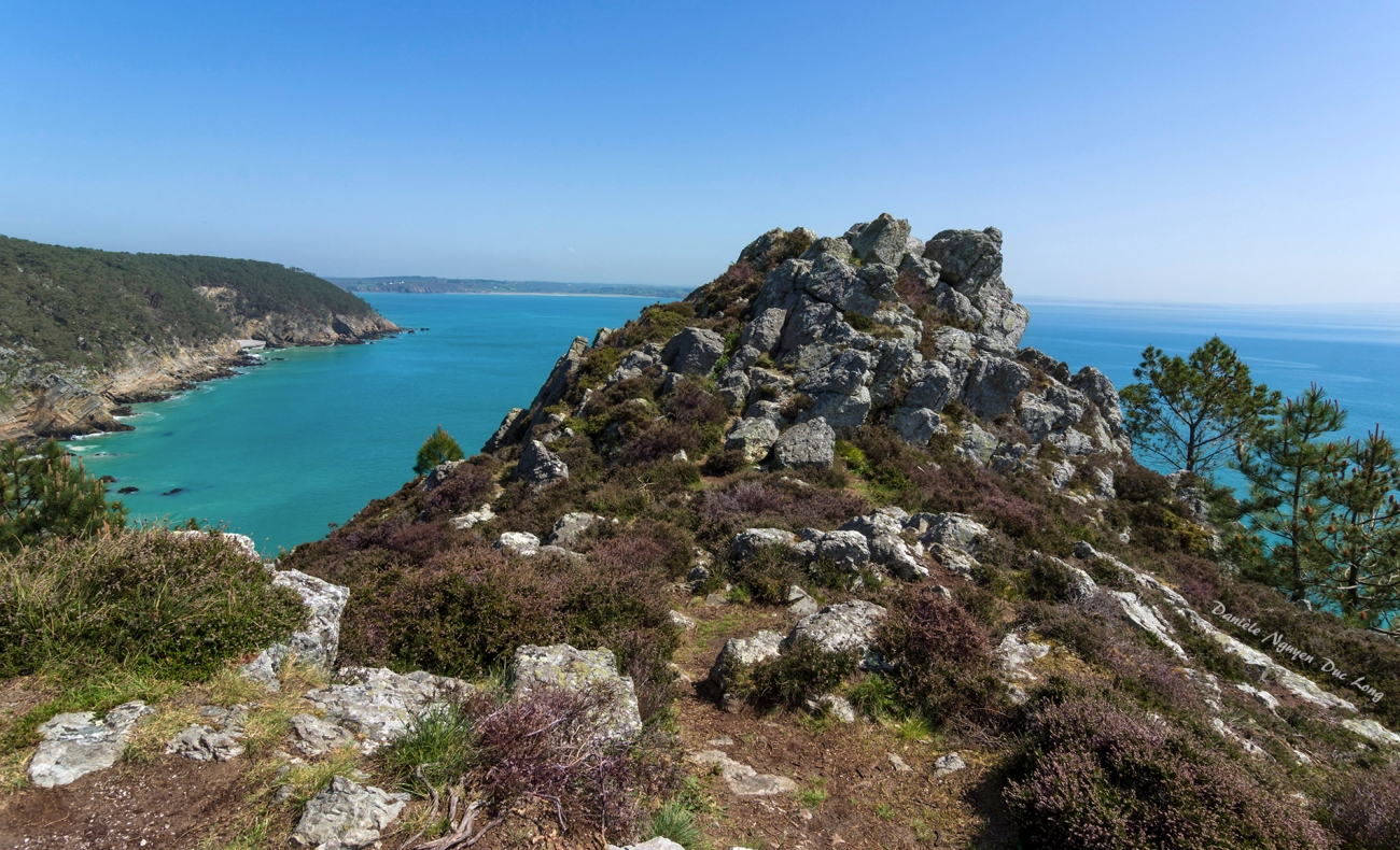 presqu'île de Crozon entre fort Kador et St-Hernot, Bretagne, Finistère, la Grande Roche