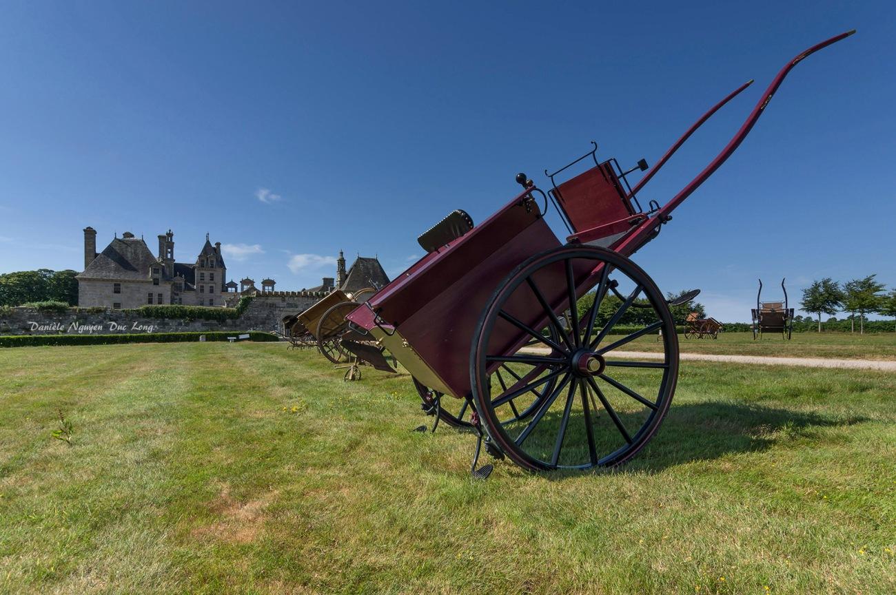 concours d'attelage château de Kerjean, Bretagne, Finistère