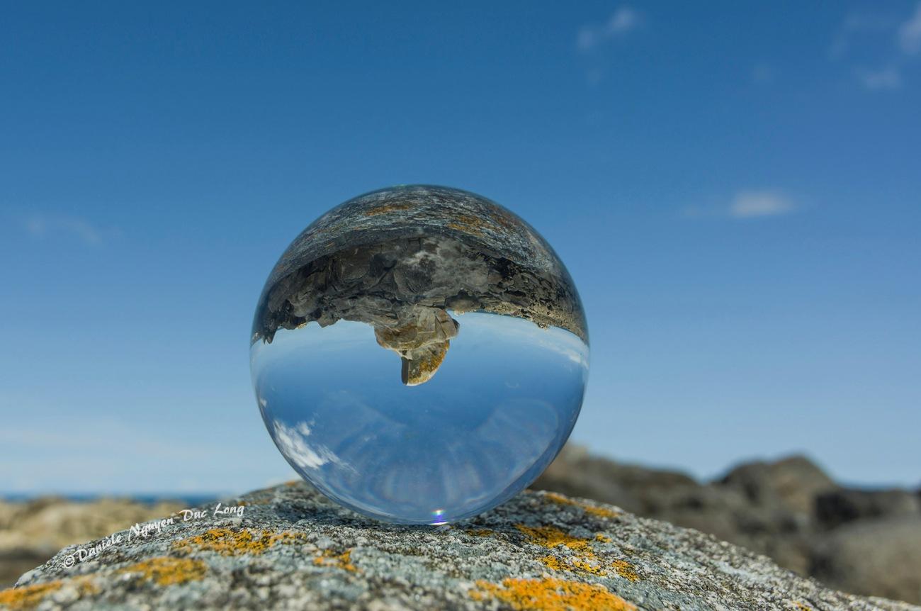 boule de cristal rocher Poulennou Plouescat
