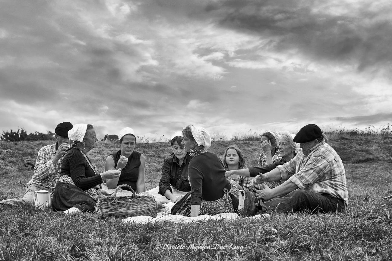 activité goémonières des années 1920-1950, fête des Goémoniers à Plouguerneau, Bretagne, Finistère