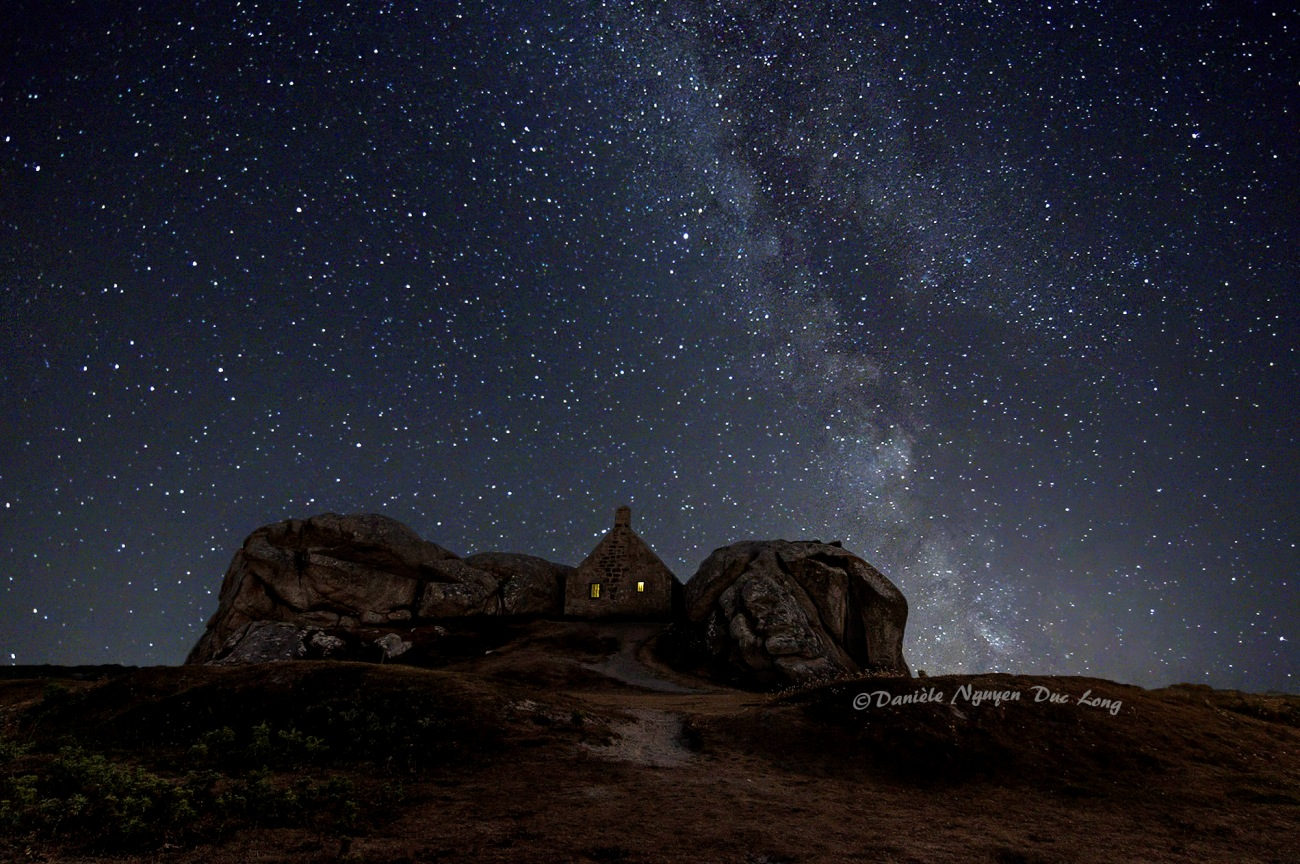 voie lactée à Meneham,Milky Way, Kerlouan, Côte des Légendes, Bretagne, Finistère, Meneham