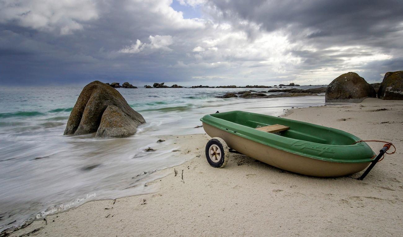 annexe verte, île aux Vaches, Finistère, Bretagne, Côte des Légendes, pose longue