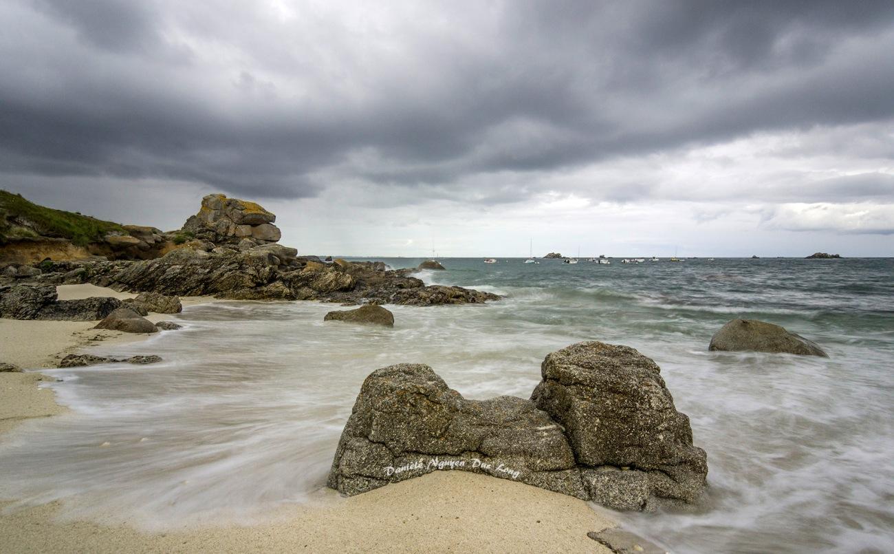 pose longue à Neïz Vran, Kerlouan, Bretagne, Finistère