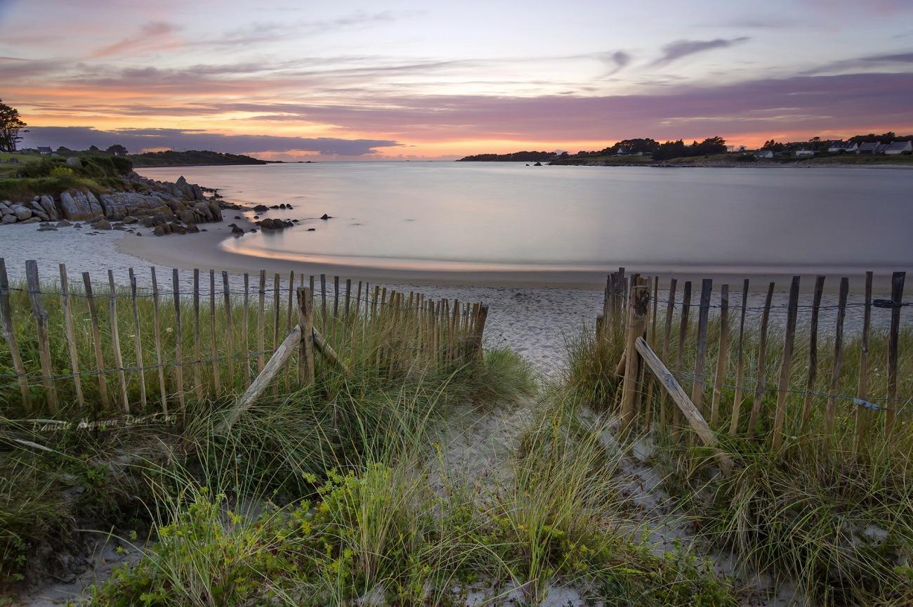 sunset, coucher de soleil, baie de Guissény, Guissény-sur-mer, Finistère, Bretagne